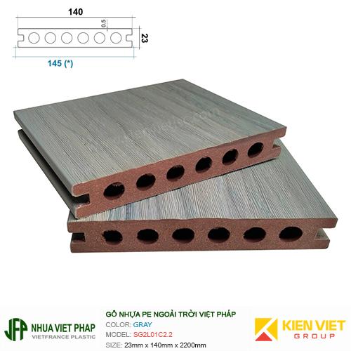 Sàn gỗ nhựa ngoài trời Việt Pháp SG2L01C2.2   23x140mm