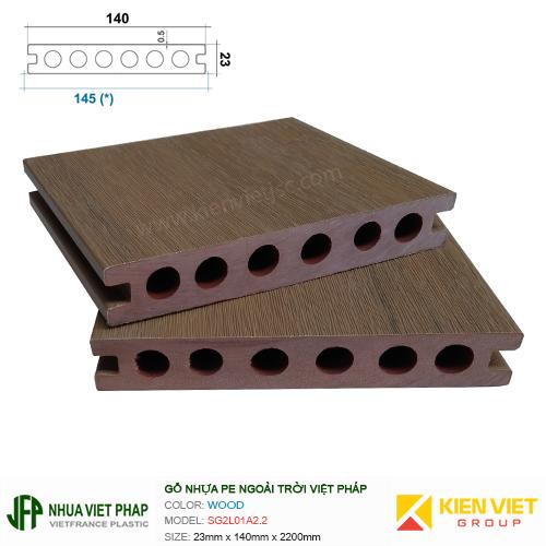 Sàn gỗ nhựa ngoài trời Việt Pháp SG2L01A2.2   23x140mm