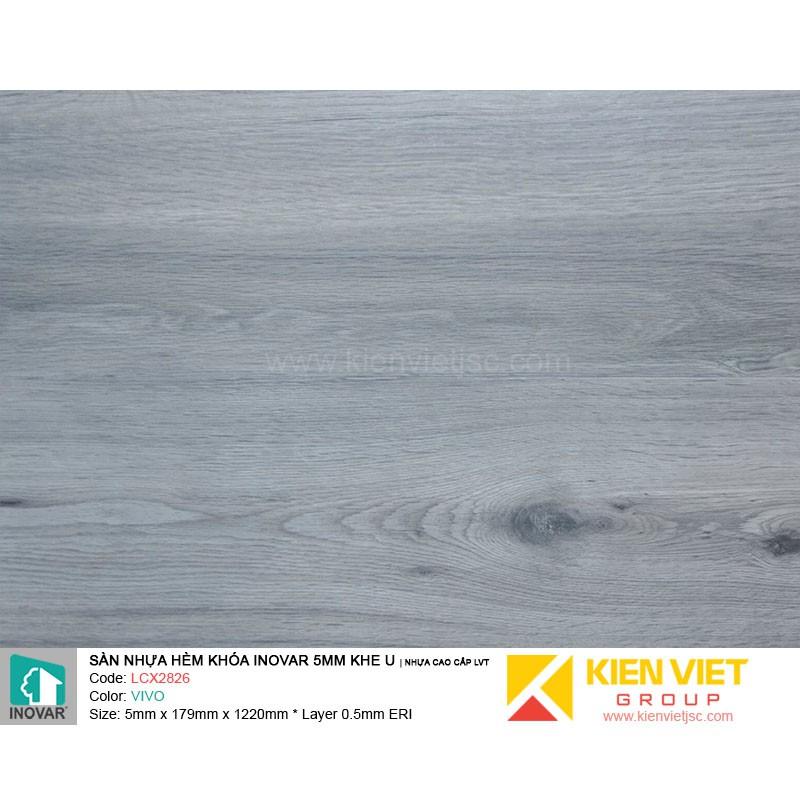 Sàn nhựa hèm khoá Inovar LCX2826 nhựa cao cấp LVT | 5mm