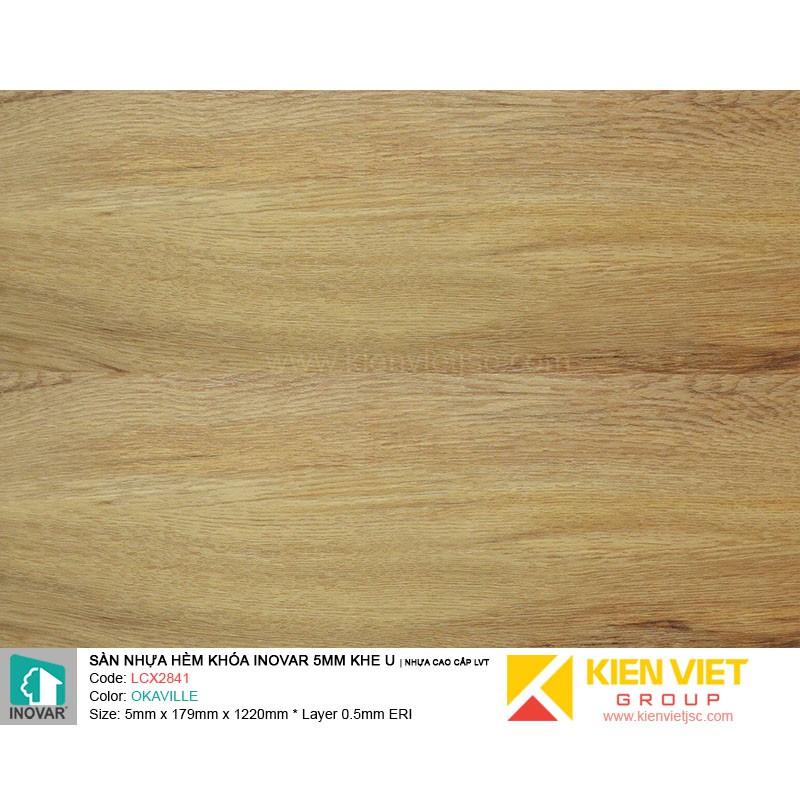 Sàn nhựa hèm khoá Inovar LCX2841 nhựa cao cấp LVT | 5mm