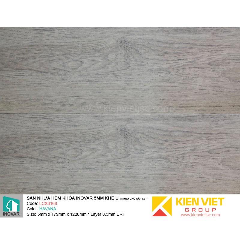 Sàn nhựa hèm khoá Inovar LCX3168 nhựa cao cấp LVT | 5mm