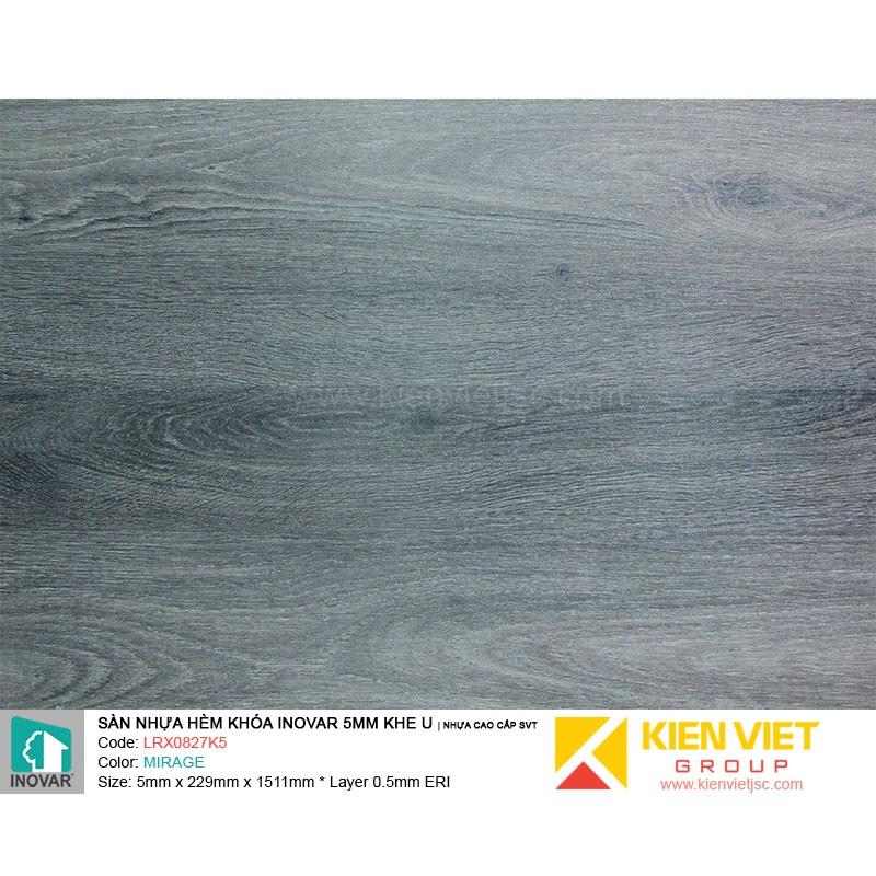 Sàn nhựa hèm khoá Inovar LRX0827K5 nhựa cao cấp SVT | 5mm