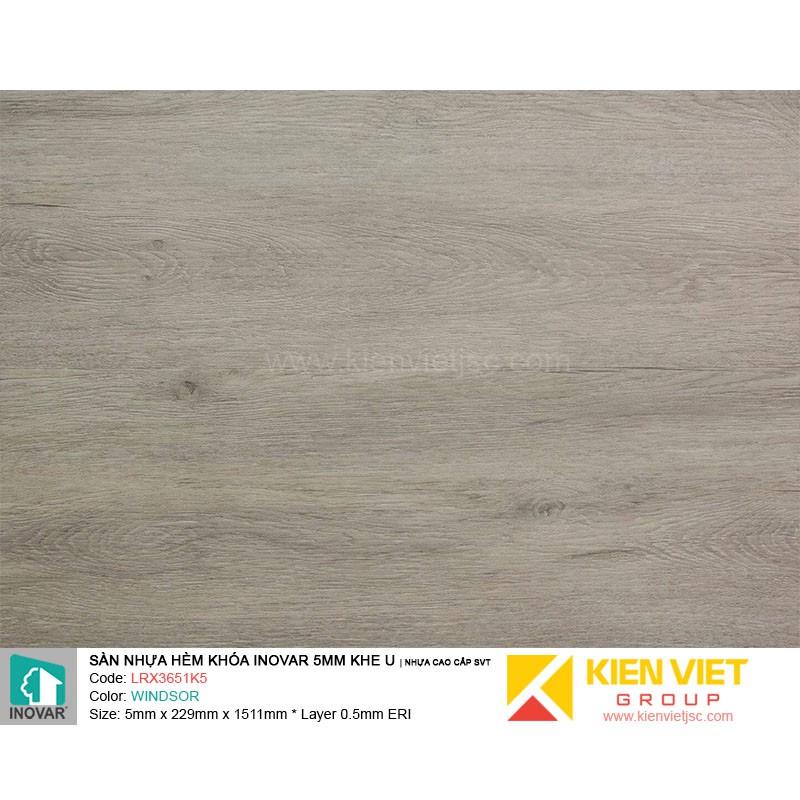 Sàn nhựa hèm khoá Inovar LRX3651K5 nhựa cao cấp SVT | 5mm