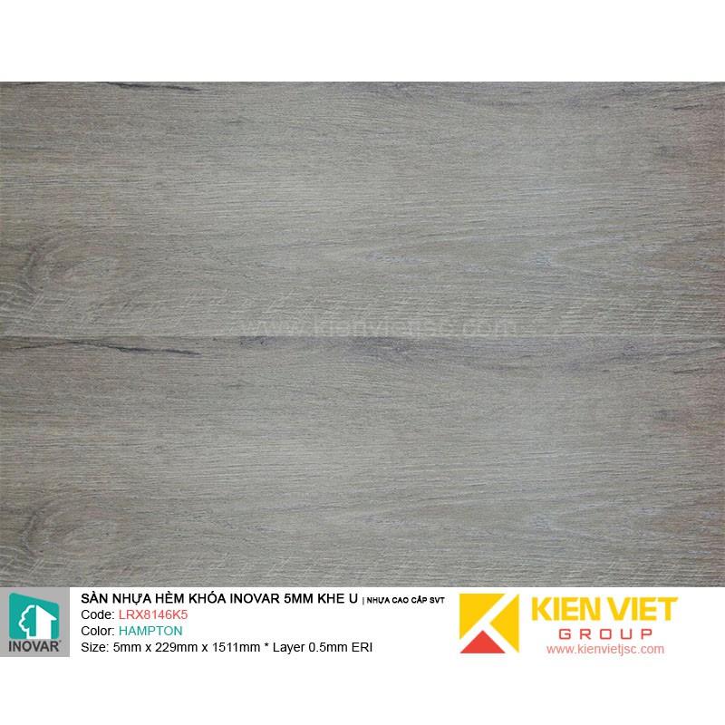 Sàn nhựa hèm khoá Inovar LRX8146K5 nhựa cao cấp SVT | 5mm