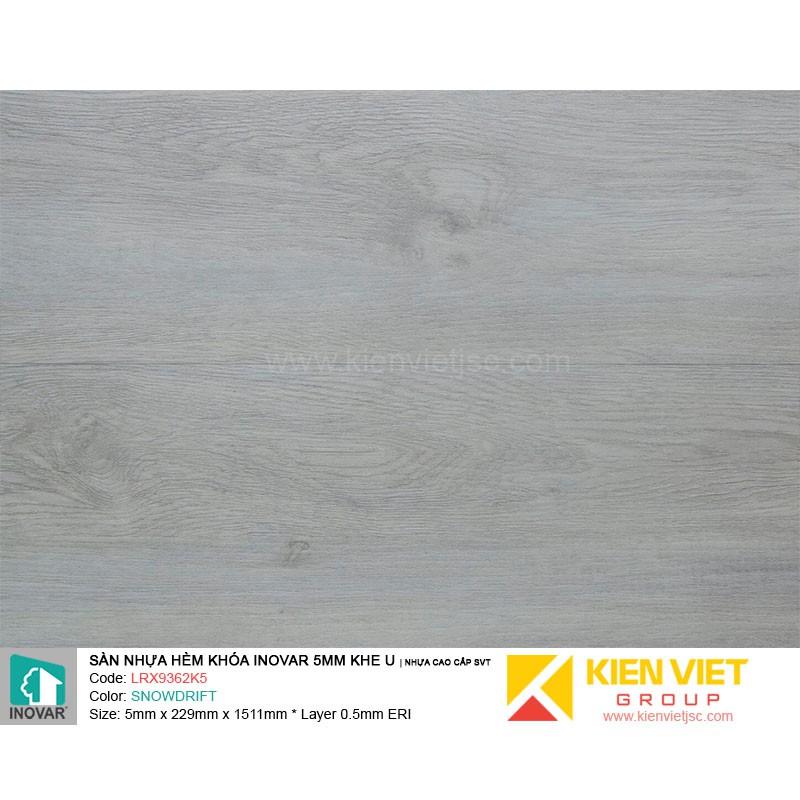 Sàn nhựa hèm khoá Inovar LRX9362K5 nhựa cao cấp SVT | 5mm