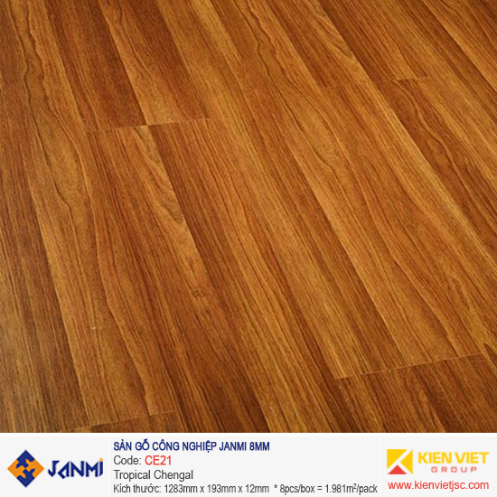 Sàn gỗ Janmi CE21 Tropical Chagel | 8mm