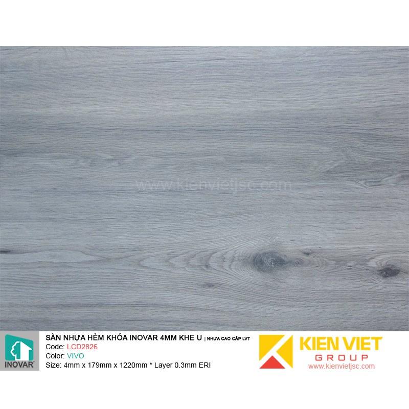 Sàn nhựa hèm khoá Inovar LCD2826 nhựa cao cấp LVT | 4mm