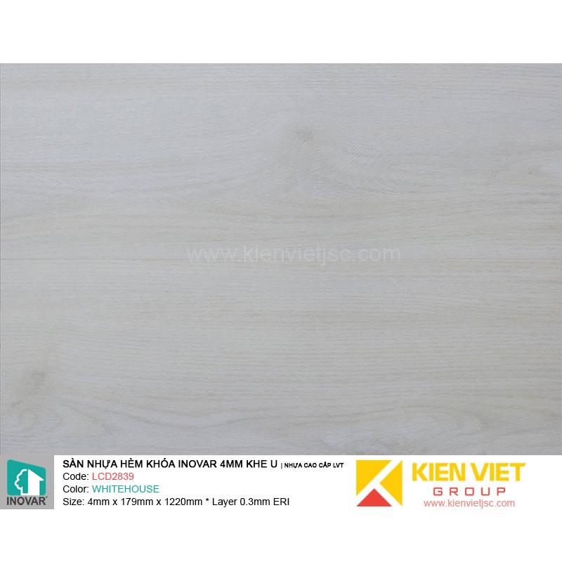 Sàn nhựa hèm khoá Inovar LCD2839 nhựa cao cấp LVT | 4mm