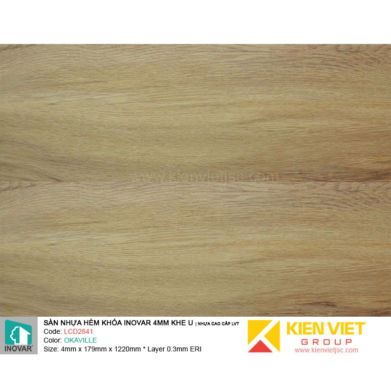Sàn nhựa hèm khoá Inovar LCD2841 nhựa cao cấp LVT | 4mm