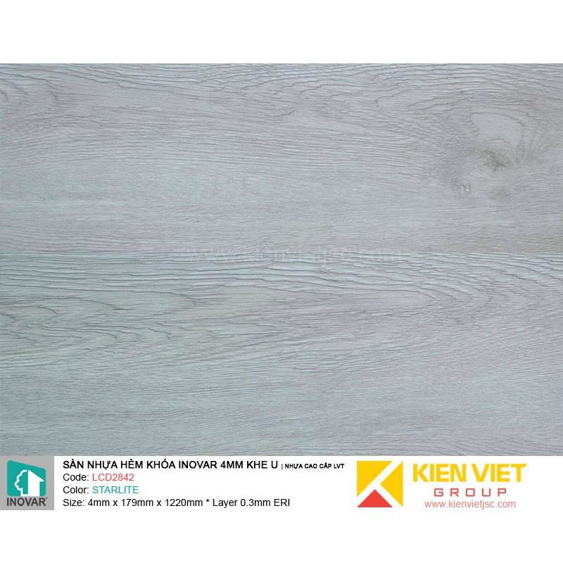 Sàn nhựa hèm khoá Inovar LCD2842 nhựa cao cấp LVT | 4mm