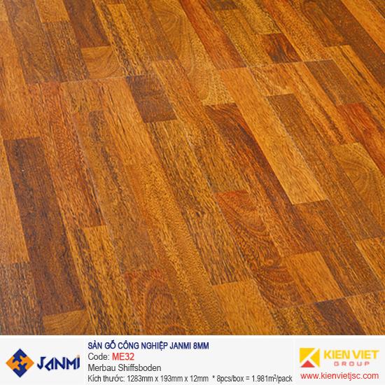 Sàn gỗ Janmi ME32 Merbau Shiffsboden | 8mm