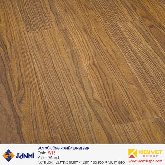 Sàn gỗ Janmi W15 Yukon Walnut | 8mm