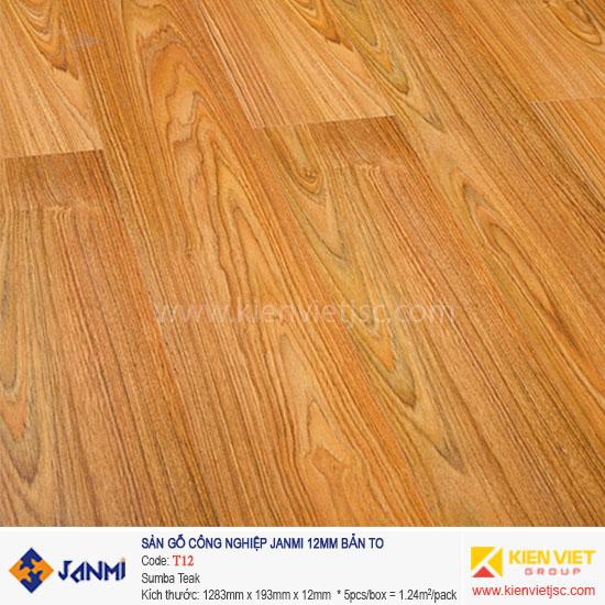 Sàn gỗ Janmi T12 Sumba Teak | 12mm bản to