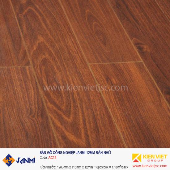 Sàn gỗ Janmi AC12 | 12mm bản nhỏ