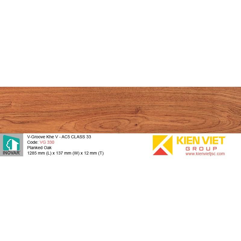 Sàn gỗ Inovar V-Groove VG330 Blanked Oka   12mm