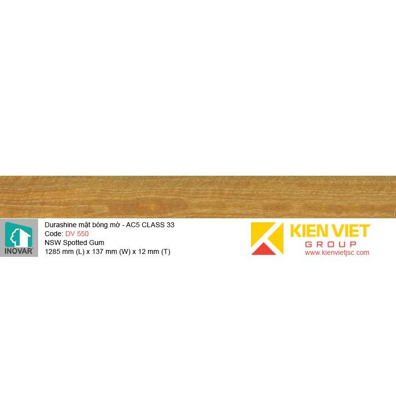 Sàn gỗ Inovar Durashine DV550 NSW Spotted Gum   12mm