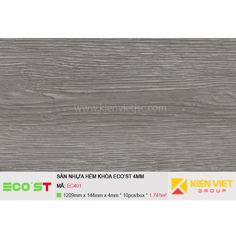 Sàn nhựa hèm khóa Ecost EC401   4mm