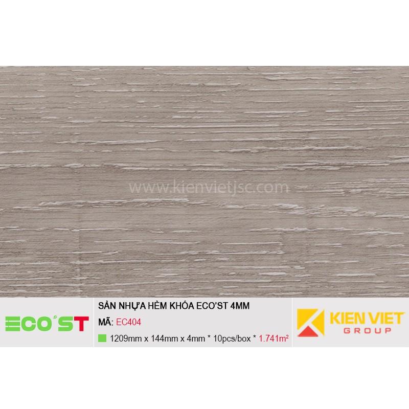 Sàn nhựa hèm khóa Ecost EC402   2mm