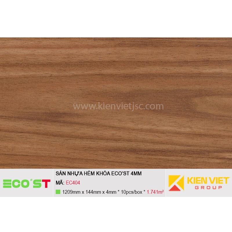 Sàn nhựa hèm khóa Ecost EC403   4mm