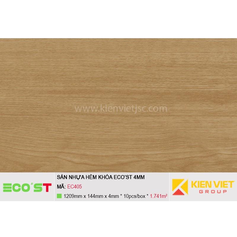 Sàn nhựa hèm khóa Ecost EC405   4mm