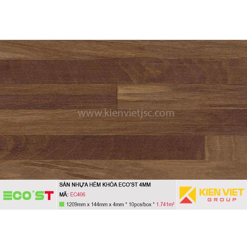 Sàn nhựa hèm khóa Ecost EC406   4mm