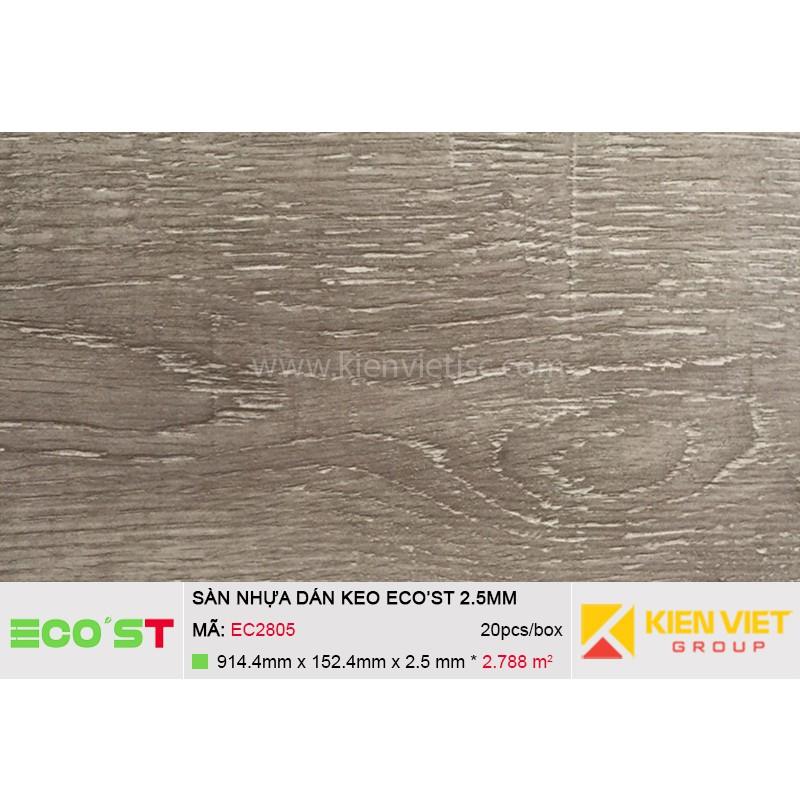 Sàn nhựa dán keo Ecost EC2805 | 2,5mm
