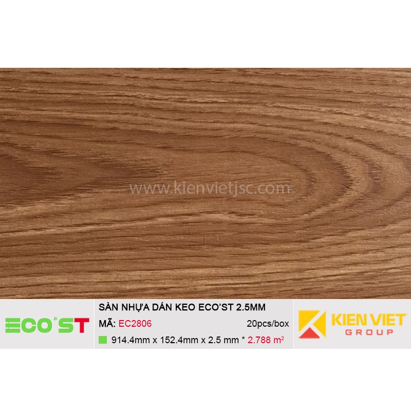 Sàn nhựa dán keo Ecost EC2806 | 2,5mm