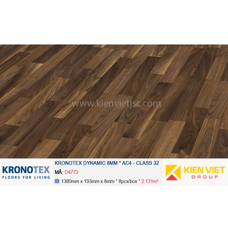 Sàn gỗ Kronotex Dynamic D4773 Walnut Historia | 8mm