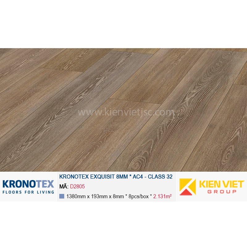Sàn gỗ Kronotex Exquisit D2805 Stirling Oak Medium | 8mm