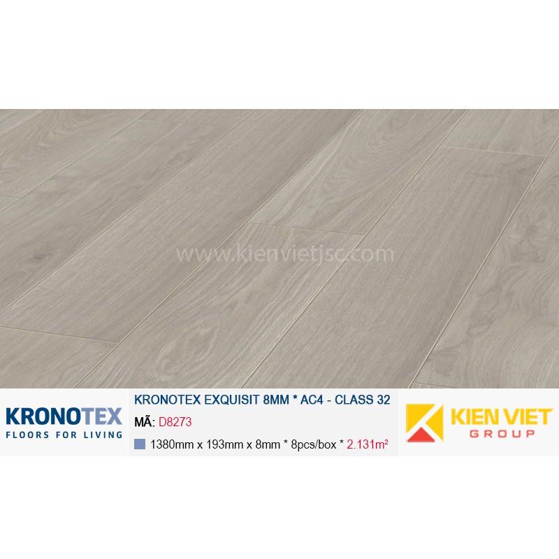 Sàn gỗ Kronotex Exquisit D2873 Waveless Oak White | 8mm