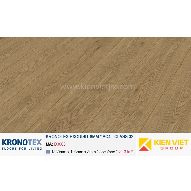 Sàn gỗ Kronotex Exquisit D3003 Major Oak | 8mm