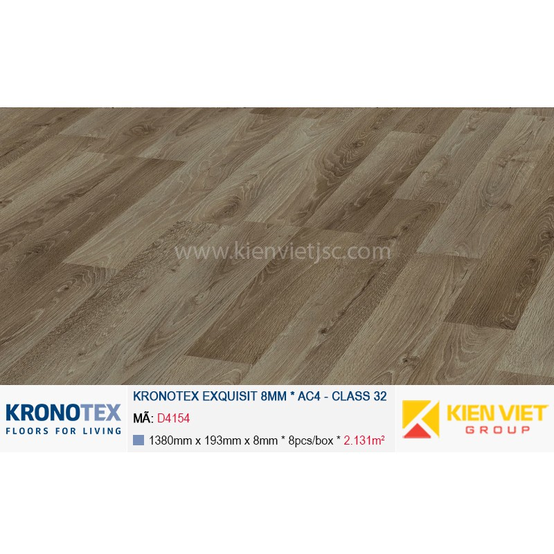 Sàn gỗ Kronotex Exquisit D4154 Luxury Oak Titan | 8mm