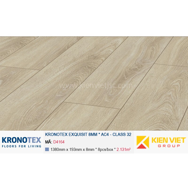 Sàn gỗ Kronotex Exquisit D4164 Village Oak | 8mm