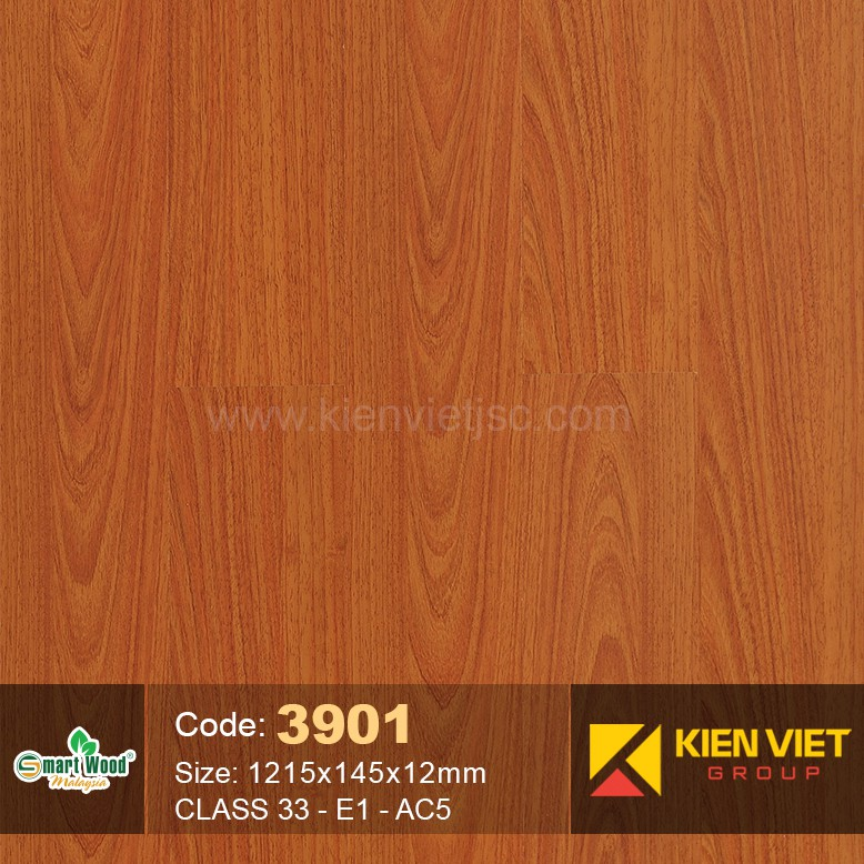 Sàn gỗ Smartwood Class 33 E1 AC5 3901 | 12mm