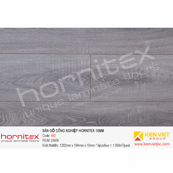 Sàn gỗ Hornitex 462 PEAK DARK | 10mm
