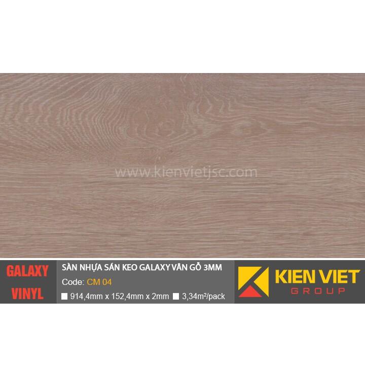 Sàn nhựa dán keo Galaxy vân gỗ CM04 | 3mm
