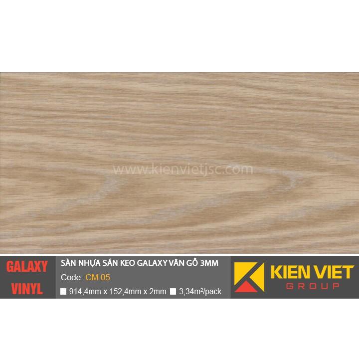 Sàn nhựa dán keo Galaxy vân gỗ CM05 | 3mm