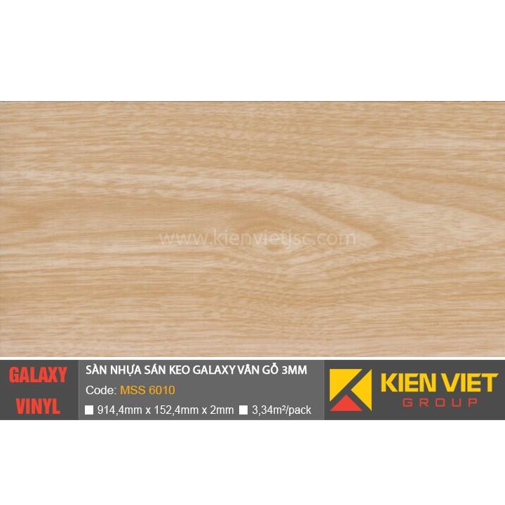 Sàn nhựa dán keo Galaxy vân gỗ MSS6010 | 3mm