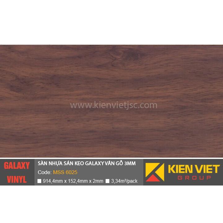 Sàn nhựa dán keo Galaxy vân gỗ MSS6025 | 3mm