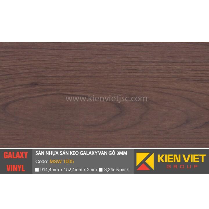 Sàn nhựa dán keo Galaxy vân gỗ MSW1005 | 3mm