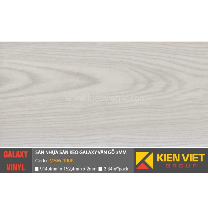 Sàn nhựa dán keo Galaxy vân gỗ MSW1006 | 3mm