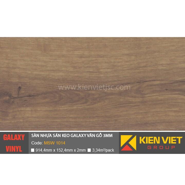 Sàn nhựa dán keo Galaxy vân gỗ MSW1014 | 3mm