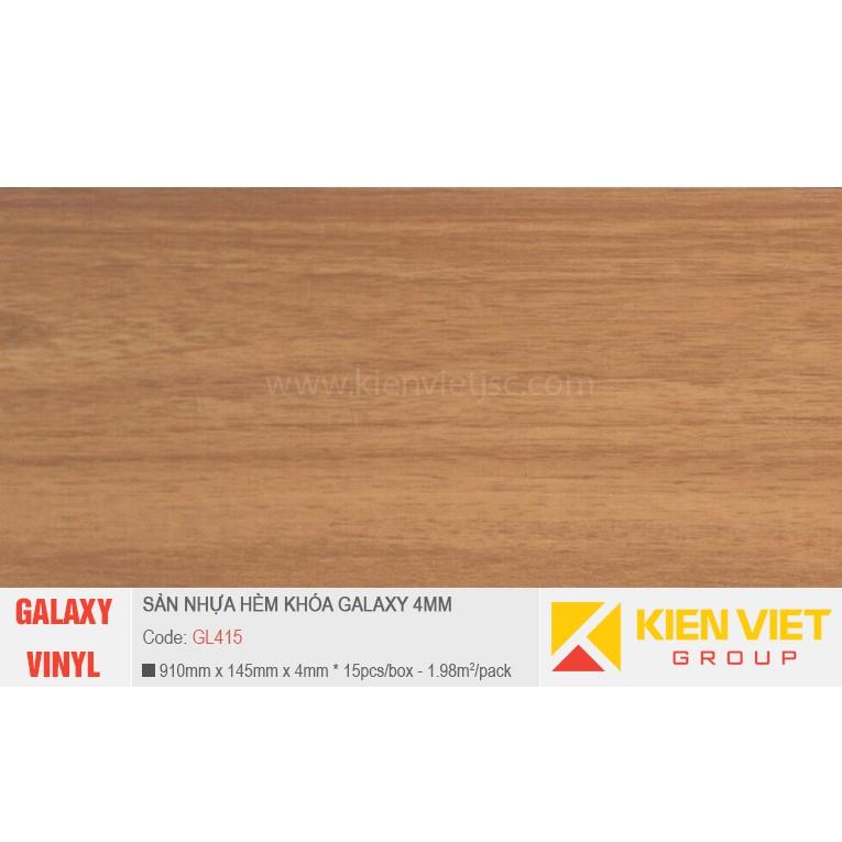 Sàn nhựa hèm khóa Galaxy GL415 | 4mm