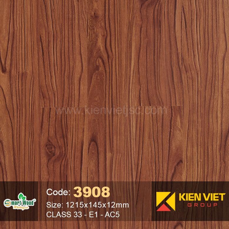 Sàn gỗ Smartwood Class 33 E1 AC5 3908 | 12mm