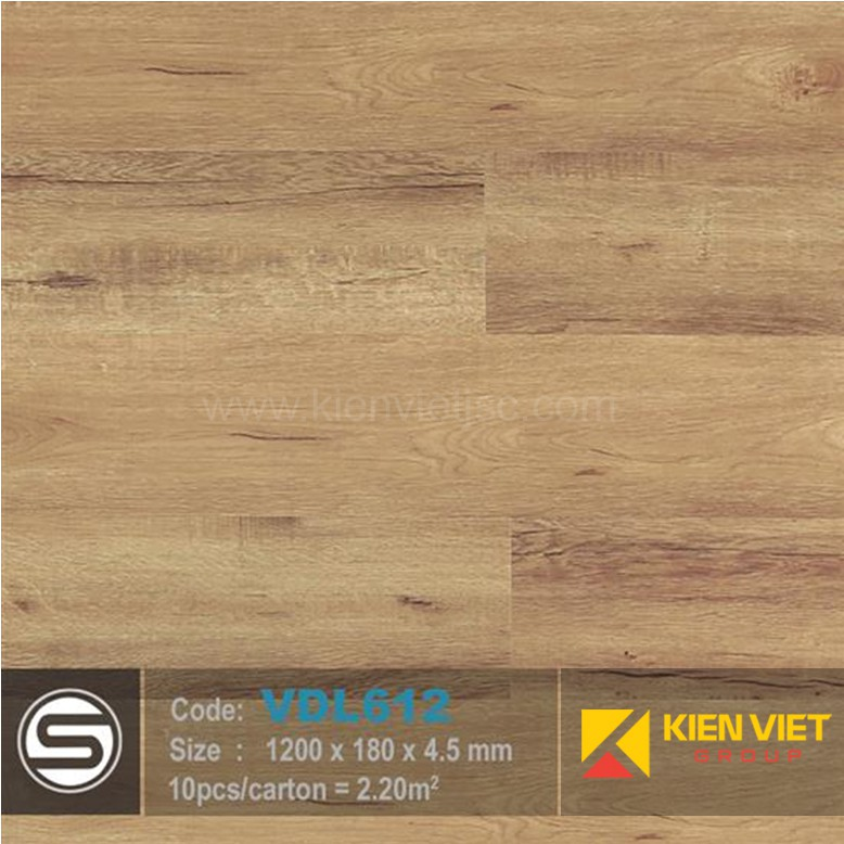 Sàn nhựa hèm khóa Smartwood VDL612 | 4.5mm