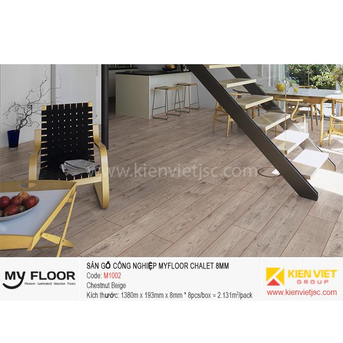 Sàn gỗ MyFloor Chalet M1002 Chestnut Beige | 8mm