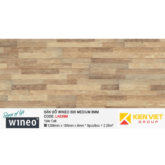 Sàn gỗ Wineo 500 Medium - LA039M | Yale Oak 8mm