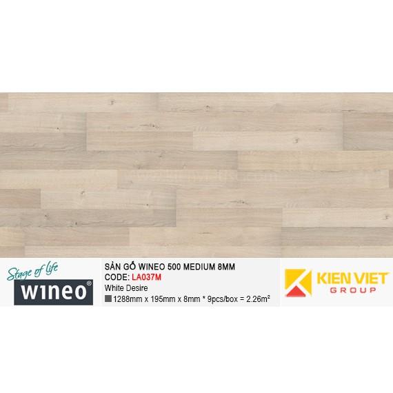 Sàn gỗ Wineo 500 Medium - LA037M | White Desire 8mm