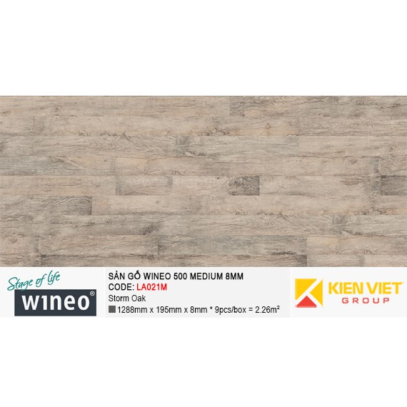 Sàn gỗ Wineo 500 Medium - LA021M | Storm Oak 8mm