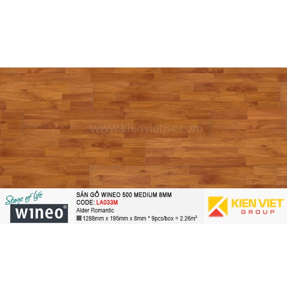 Sàn gỗ Wineo 500 Medium - LA033M | Alder Romantic 8mm